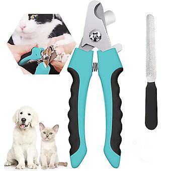 Pet Nail Clipper Pet Körömvágó biztonsági védőeszközzel a körmök túlzott vágásának elkerülése érdekében Professzionális kisállat ápolási eszköz körömreszelővel