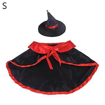 2pcs Lustige Halloween Haustier Kostüm Set Vampir Umhang mit Hut Katze Welpen Party Cosplay Kleidung Dekoration Kätzchen Dress Up
