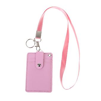 Office Work School Id Card Badge Holder With Keyring Rope Layards Neck Strap