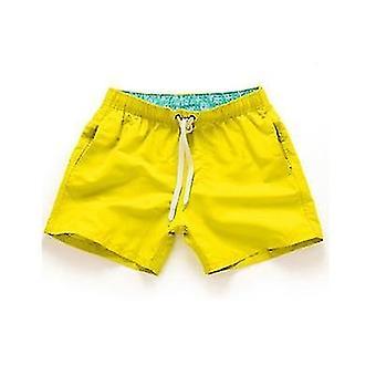 Men Quick Drying Casual Beach Elastic Waist Summer Shorts