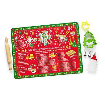 Cooksmart Joulupukin tähti Baker 8 kpl lasten Leivonta asettaa