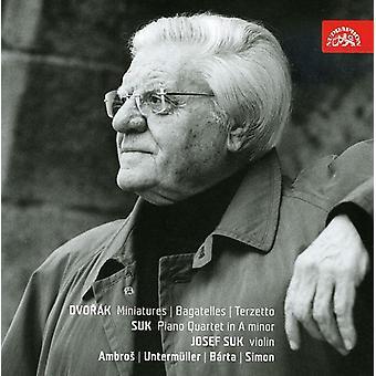 Dvorak/Suk - Dvor K: Miniatures; Bagatelles; Terzetto; Suk: Piano Quartet in a Minor [CD] USA import