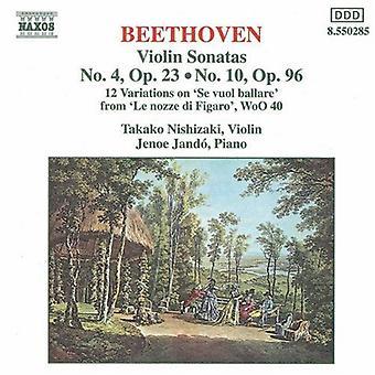 Lehtonen Beethoven - Beethoven: Viulu sonaatit 4 & 10, jne [CD] Yhdysvallat tuoda