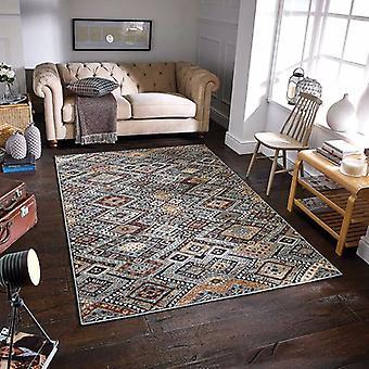 Zarah 560 B blå Beige rektangel mattor moderna mattor