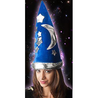 Czapki kapelusz czarownika dzieci niebieski