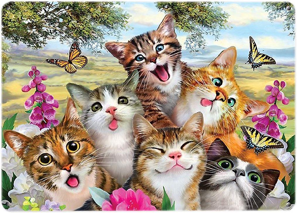 Selfie Wall Plaque - Cats