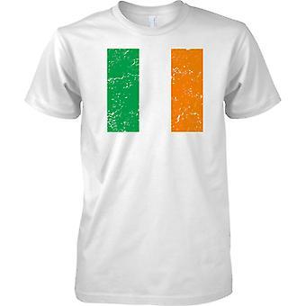 Irische gequält Grunge Effekt Flaggendesign - Kinder T Shirt