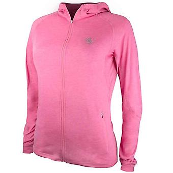 Bad Girl Training Zip Up Hoodie - Marl Pink