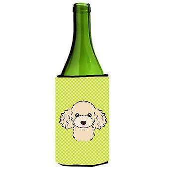 لوح شطرنج الجير الأخضر بتابع برتقالي زجاجة النبيذ المشروبات عازل نعالها