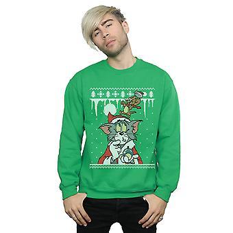 Tom et Christmas Jerry masculine Fair Isle Sweatshirt