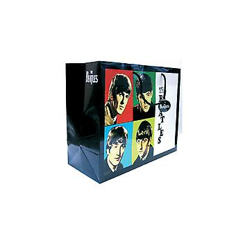 The Beatles Gift Bag Early Years band logo new Official Black 33cm H 26cm D 13cm