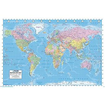 World Map Poster Poster Print