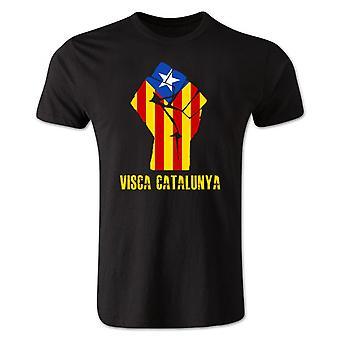 VISCA Catalunya T-Shirt (schwarz)
