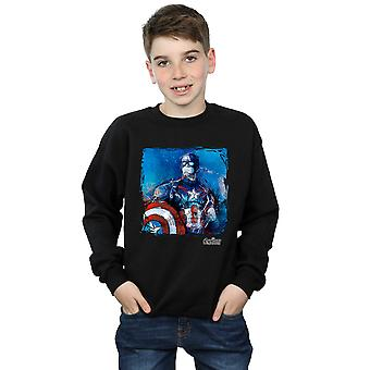 Marvel Boys Captain America Art Sweatshirt