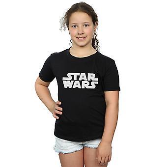 Звездные войны девочек классический логотип футболку