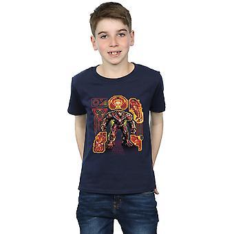 Marvel Boys Avengers Infinity War Hulkbuster Blueprint T-Shirt