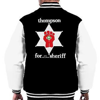 Hunter S Thompson för Sheriff mäns Varsity jacka