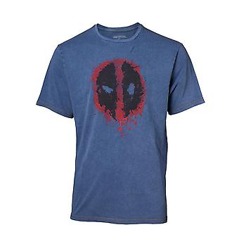 Deadpool Classic Style Guide T-Shirt Faux Denim T-Shirt Large Blue TS551101DEA-L