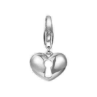 ESPRIT hängsmycke charm silver hjärta slott ESCH91501A000