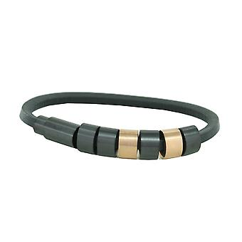 La police mens bracelet en acier inoxydable Sixpack cuir PJ. 22653BLR/03-19
