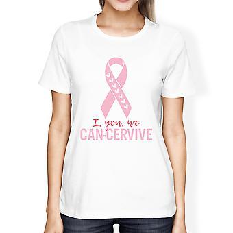 أنا كنت نحن سيرفيفي يمكن للمرأة البيضاء الهدايا التي شيرت الوعي بمرض السرطان