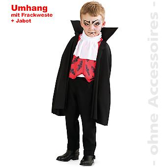Vampire Costume Kids Draculaumhang Fokszám Drakula gyerekek jelmez