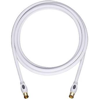Antennas Cable [1x Belling-Lee/IEC plug 75Ω - 1x Belling-Lee/IEC socket 75Ω] 1.70 m 120 dB gold plated connectors White Oehlbach Transmission Plus 170
