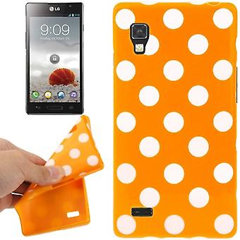 Schutzhülle TPU Punkte Case für Handy LG Optimus L9 / P760 orange