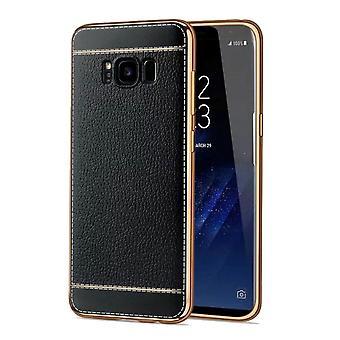 Telefono cellulare custodia per Samsung Galaxy S8 plus custodia protettiva + borsa ecopelle nero
