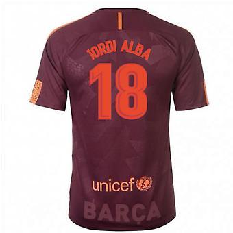 2017-18 Barcelona Nike Third Shirt (Jordi Alba 18) - Kids