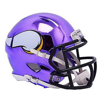 Riddell mini football helmet - NFL Minnesota Vikings CHROME