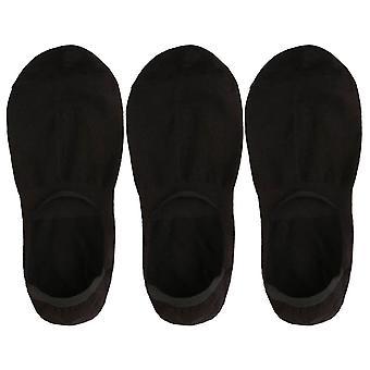 The Moja Club 3 Pack No Show Socks - Black