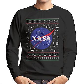 Die NASA klassischen Insignien Weihnachten Stricken Muster Herren Sweatshirt