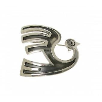 Spilla Phoenix Inca di Cavendish francese in argento