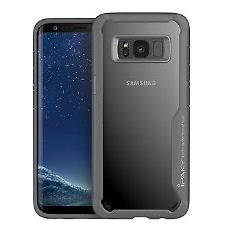 IPAKY Samsung Galaxy S8 Plus TPU Hybrid Shell-Grey