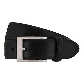 SAKLANI & FRIESE belts men's belts leather belt black 7677