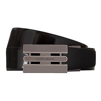 MIGUEL BELLIDO clasico belt belt men's belts leather belt black/blue 7733