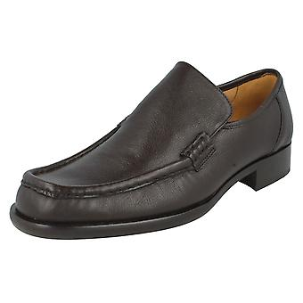 Mens Grenson Formal Moccasin Shoes Dean 9637-39 Brown Grain Size UK 8.5F
