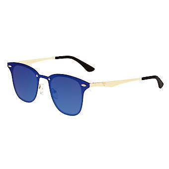 Sixty One Infinity Polarized Sunglasses - Gold/Purple-Blue