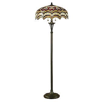 Vesta stile Tiffany lampada da terra - interni 1900 64373