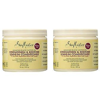 Shea Moisture Jamaican Black Castor Oil Strengthen & Restore Leave-In Conditioner 16oz (2-Pack)
