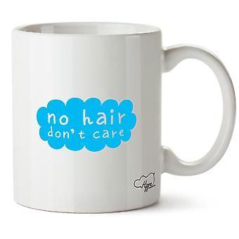 Hippowarehouse No Hair, Don't Care Printed Mug Cup Ceramic 10oz