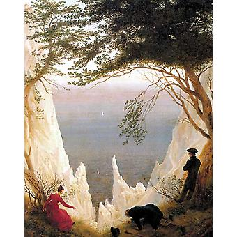 Cliffs de craie sur Rugen, Caspar David Friedrich, 50x40cm
