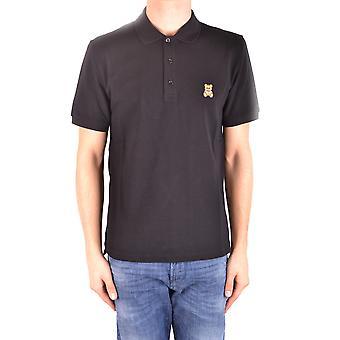 Moschino Ezbc015018 Herren's schwarze Baumwolle Polo Shirt