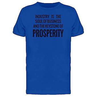 Industrie ist die Seele des Business T-Shirt Herren-Bild von Shutterstock