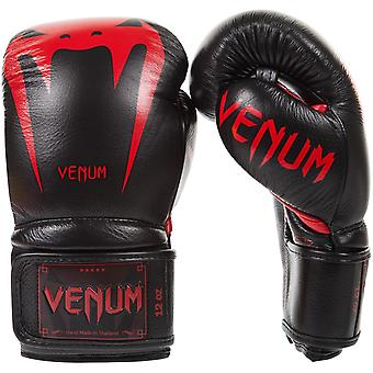 Venum Giant 3.0 Hook and Loop MMA Training Gloves - Black/Red Devil