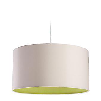 Firstlight-1 plafón ligero colgante crema, verde interior-8630CRGN