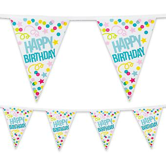 6 Metre Plastic Bunting Happy Birthday Party Celebration