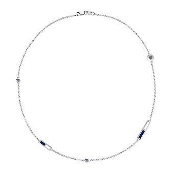 Villanova University Sapphire Chain Necklace In Sterling Silver Design by BIXLER