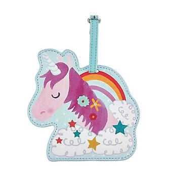 Childrens Unicorn Chunky bagagelabel